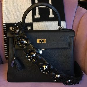 Authentic Fendi Roma Flower Shoulder Bag Strap